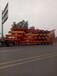 新疆訂做9-13米鉤機拖板半掛車,挖掘機專用運輸車