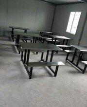 公司食堂餐桌椅4人連體單位員工食堂餐桌學校學生餐廳餐桌組合圖片