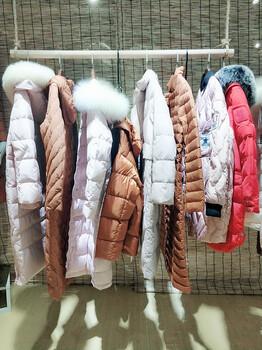 品牌折扣女装批发价格玖姿冬季新款羽绒服尾货