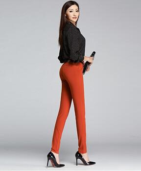 新作2019春夏装补丁长裤女齐色齐码品牌女装折扣加盟
