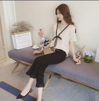 宠爱女人2019春夏装高腰裤子女齐色齐码名品折扣女装加盟