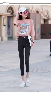 雪丹枝2019春夏装时尚长裤女齐色齐码加盟品牌折扣女装店