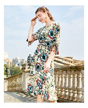 品牌女裝貨源芝儀中長連衣裙圖片