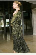 高檔一手女裝貨源廠家迪蘭世家小立領連衣裙圖片