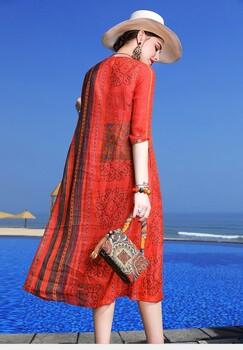 零库存代销一般中高端的衣服进货价位欧莱雨新款连衣裙