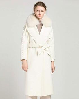 卖服装进货价多少钱埃文大口袋羊毛毛呢外套女
