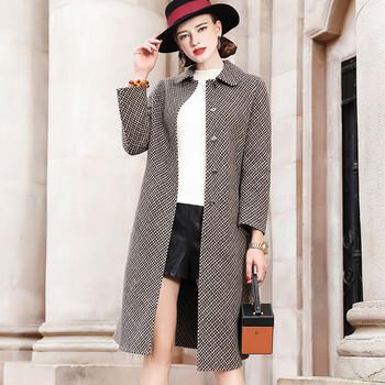 服装店外贸货拿货在哪里拿朗诗高端双面羊绒大衣毛呢