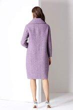 休閑女裝貨源供應商朗詩新款雙面尼羊絨大衣圖片