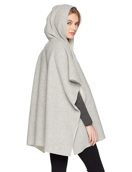 女士服装进货渠道千百惠双排扣双面羊毛羊绒大衣毛呢
