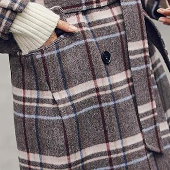 服装拿货多少贝芙妮山羊绒双面羊毛羊绒呢大衣女