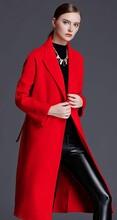 衣服貨源在哪里伊貴人雙排扣雙面羊絨呢大衣女圖片