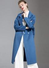 賣衣服怎么找貨源益華彩菲百搭雙面羊絨呢大衣女圖片