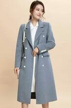 浙江杭州女裝貨源微信號艾米拉風衣款羊毛毛呢羊絨大衣圖片