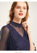 紫伊兰2020新款宽松苎麻拼接裙子精品服装货源图片