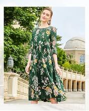 预瑄2020春装苎麻新款中长裙剪标品牌服装货源图片