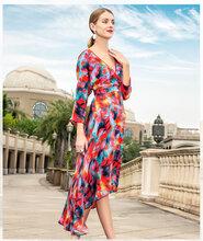 莎之彩2020春五分袖宽松中长款裙卖服装去哪里拿货