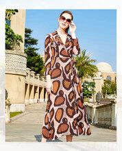 柏菲特卫衣2020春装苎麻新款中长裙外贸服装批发拿货