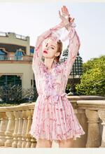 菲格2020早春套头五分袖拼接裙子重庆开服装店图片