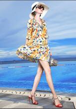 伊庄可人2020春夏新款套头中长款裙子自己开个服装店图片