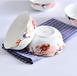 唐山瓷亿美批发陶瓷碗盘碟家用汤碗骨质瓷6寸面碗酒店礼品金钟碗定制加logo