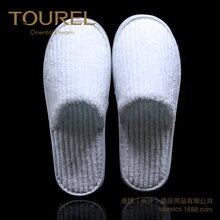 浙江途悦酒店用品一次性拖鞋抽条珊瑚绒拖鞋通货可定制logo星级酒店用品