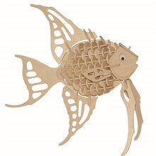 厂家直销木质益智仿真模型玩具113神仙鱼图片