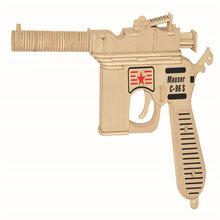 厂家直销木质益智仿真模型玩具wp114驳壳枪图片