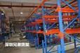 大型倉庫通廊式貨架地軌貫通貨架深圳生產廠家