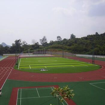 硅pu球场施工案例-运动场围网灯光建设-深圳健宇体育