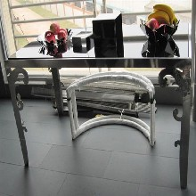 厂家定制不锈钢茶几客厅大理石茶几定制酒店边几办公台