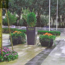 安徽花盆花架、防腐木花箱做法来图加工图片