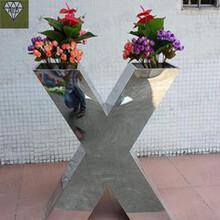 重庆花盆价格、不锈钢花箱做法加工定制图片