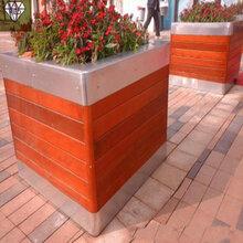 不锈钢花盆欧式风玫瑰金高桶自动吸水花盆花器定制图片