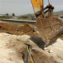 惠州石頭礦山開采不能爆破液壓分裂棒怎么用