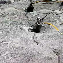 山體巖石二次分解劈石機_高效率浙江杭州圖片