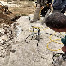 綿陽石頭礦山開采不能爆破巖石碎裂棒高效率