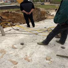 安陽溝渠挖掘遇到硬石頭巖石劈裂棒高效率
