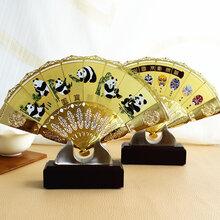 广东厂家出货、中式禅意金属铁工艺、中国风扇子、电视玄关客厅酒柜家居装饰品摆件