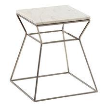 大理石茶几简约现代客厅圆形金属茶几创意家具钛金不锈钢边几