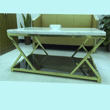 不锈钢边几大理石茶几现代大小组合茶几客厅大小圆几定制