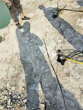 挖基础开石头劈裂棒使用情况金昌企业资讯图片