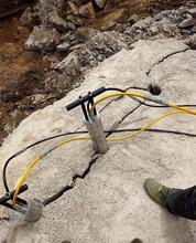 贵州修路边坡破石钩不动静态分石机规格图片