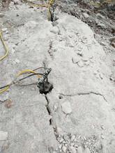 拉萨不能放炮产量高的开石头机器岩石开采案例图片