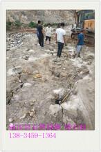 甘肃平凉基坑开挖硬岩石静态破石机-现场有噪音吗图片