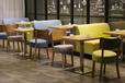 奶茶店甜品店卡座沙發桌椅組合小吃飯店快餐桌椅咖啡廳餐桌椅定制