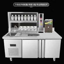 奶茶店设备,奶茶操作台,奶茶店奶茶操作台不可缺少的设备图片