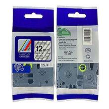兄弟标签机PT-P900国产标签带TZA-231,TZA-631,12mm白/黄底黑字图片