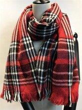 綸格紋圍巾腈綸梭織圍巾外貿梭織圍巾梭織圍巾加工廠圖片