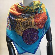 圍巾工廠印花羊絨圍巾圖片
