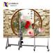 汉皇3d高清喷头立式墙面彩绘机/创业便携